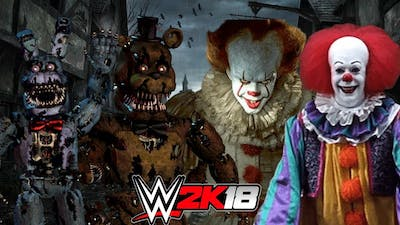 FIVE NIGHTS AT FREDDYS vs PENNYWISE!   WWE 2K18 Gameplay