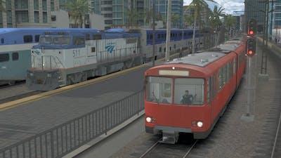 Train Simulator 2021 | San Diego Trolley U2 Cars on the Green Line