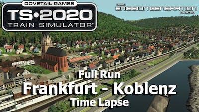 Frankfurt to Koblenz - Time Lapse - Train Simulator 2020