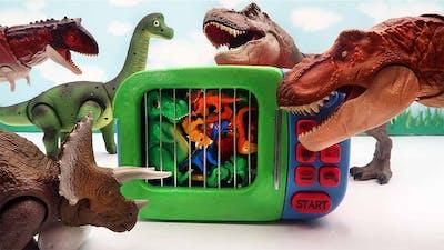 DINOSAUR EGGS HATCHING! Tyrannosaurus, Triceratops Dino Eggs Transformer 공룡알 부화