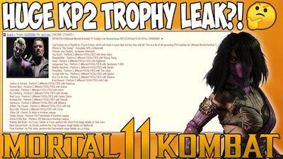 Mortal Kombat 11 - HUGE KOMBAT PACK 2 TROPHY LEAK?! Revealing ENTIRE KP2 Roster?!