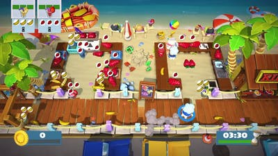 Overcooked 2:  Surf n'Turf 1-1 (Solo Highscore 1,548) Record