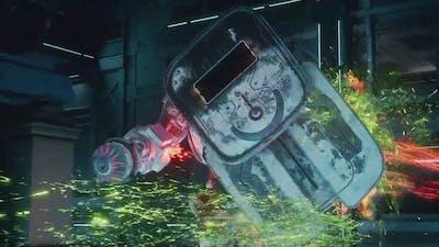 The Outer Worlds - Brave New World: Tartarus: RAM Mechanical Warden Bossfight Gameplay (2019)