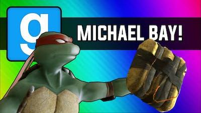 Gmod: Michael Bay Movie - Ninja Turtle Chain Explosion (Garry's Mod Sandbox Funny Moments)