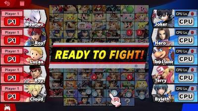 """SSBU - Custom Event Match #48 """"DLC Showdown: 4 Vs. Ultimate"""""""