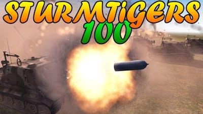 Men of War Assault Squad 2 - 100 STURMTIGER FIRING vs 50 IS-2, 50 KATYUSHAS - Editor Scenario #59