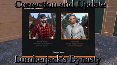 Correction and Update - Lumberjacks Dynasty