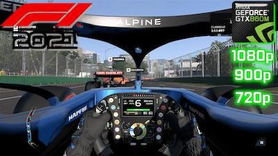 F1 2021 | GTX 860M 2GB | i7-4710 HQ