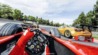 Michael Schumacher Ferrari F2004 Vs Everyone At Nurburgring   Assetto Corsa Ultra Graphics