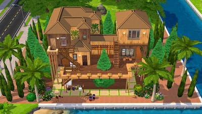 TREE HOUSE IN THE JUNGLE 🌴 || THE SIMS MOBILE 2021 || HOUSE TOUR || SPEED BUILD #15
