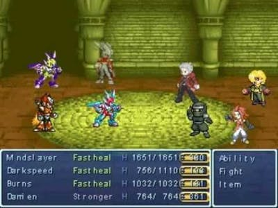 """My Rpg maker 2003 game 'The Hero's Struggle"""" Tower Of Elyul bossfight"""