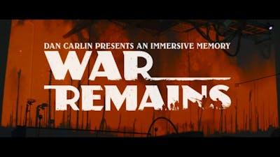 Making Of | War Remains: Dan Carlin Presents an Immersive Memory | MWM | Flight School | Skywalker