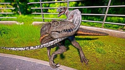 🌍 Jurassic World Evolution - Indoraptor vs Blue Breakout & Fight Dinosaur Fighting