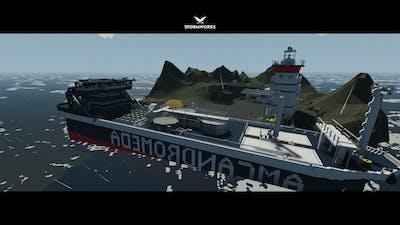 Capturing the A.I Fort Base in Storm Works: Weapons DLC (Oil tanker VS Fort Base Guns!)