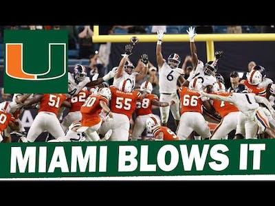 Miami Blows It Against Virginia - Post Game Reaction