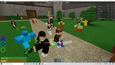 roblox zombie rush zombie party
