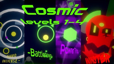 First four levels of Cosmic! - Project Arrhythmia storyline by nukegameplay (me)