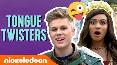 Tongue Twister Challenge w/ Daniella Perkins, Owen Joyner & More!   Knight Squad   #TryThis