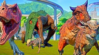 Carnotaurus Toro, Baryonyx Grim, Ceratosaurus Camp Cretaceous Dinos in Isla Nublar Jurassic World