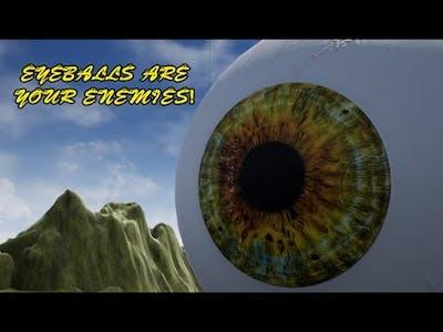 Eyeballs are your ENEMIES! - Gameplay / (PC)