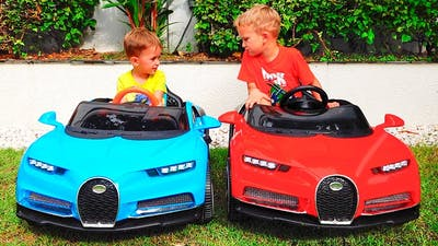 Little Nikita ride on cars and Magic transform colored cars