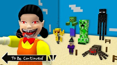 THE SCARIEST DOLL SQUAD GAME WITH MINECRAFT MOBS in Minecraft - Coffin Meme