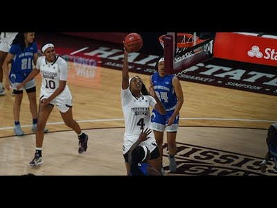 MSU women's basketball players Jessika Carter and JaMya Mingo-Young talk win over New Orleans