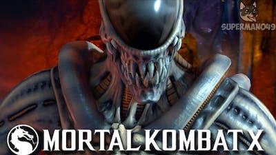 """90% DAMAGE IN 12 SECONDS WITH ALIEN! - Mortal Kombat X: """"Alien"""" Gameplay"""