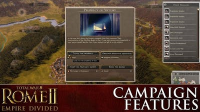 ROME II – Empire Divided: Explaining the New Campaign Features