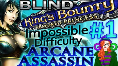 King's Bounty Crossworlds ❄ IMPOSSIBLE DIFFICULTY (Part 1) Lets Play Armored Princess/Blind Gameplay