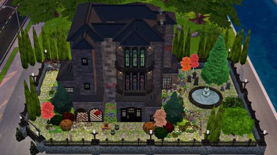 HUNTED GOTHIC CASTLE || THE SIMS MOBILE 2021 || HOUSE TOUR || NEW PACKS/TH ITEMS || SPEED BUILD # 12