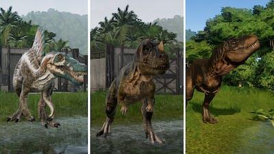 All Carnivore Dinosaurs - Jurassic World Evolution (1080p 60FPS)