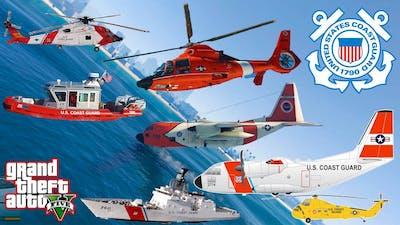 GTA V: US Coast Guard Pack Falling into Deep Pacific Ocean Best Longer Crash and Fail Compilation