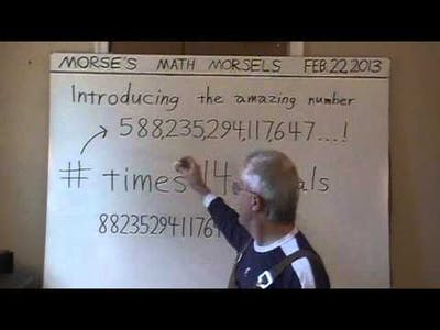 Mathematics - The Remarkable Number 0588235294117647 - Cyclic Permutations of Digits.