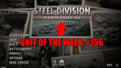 [3 Year Anniversary] Unit of the week #156 (Steel Division: Normandy 1944)