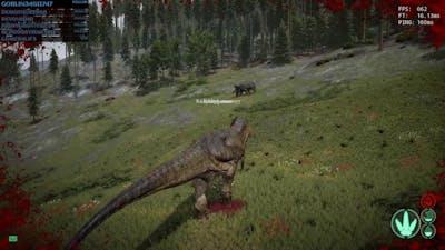 The Isle dinosaur fights | Evolve Realism | Gameplay | Tyrannosaurus Rex Vs Triceratops
