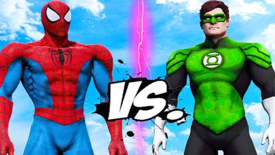 SPIDERMAN MUSCLE VS GREEN LANTERN - EPIC BATTLE