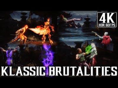 Mortal Kombat 11 Ultimate - All Klassic Brutalities - 4K HDR (60fps)
