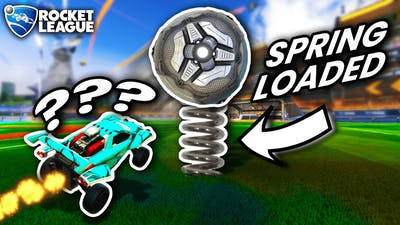 ROCKET LEAGUE BUT THE BALL IS SPRING LOADED...