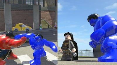 Blue Hulk vs Hogun vs Red Hulk - LEGO Marvel Super Heroes Games