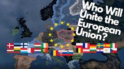 European Union Battle Royale - Hearts of Iron 4 Timelapse
