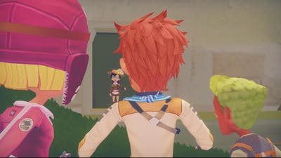 Relaxing in cave (My Time At Portia game play)