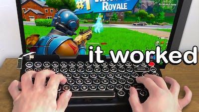 I Played Fortnite on a TYPEWRITER Keyboard and WON
