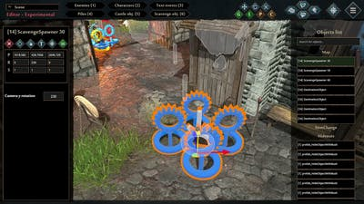 Siege Survival: Gloria Victis Editor Guide #8 - Scene: Castle and Scavenge objects