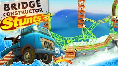 Building a CRAZY BRIDGE in Bridge Constructor Stunts! (Bridge Constructor Stunts Gameplay)