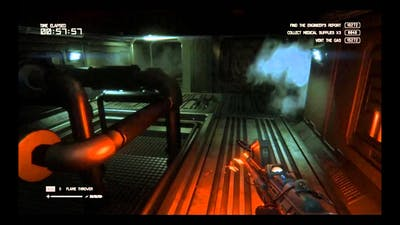 Alien Isolation Trauma DLC No Tracker challenge Crawl Space