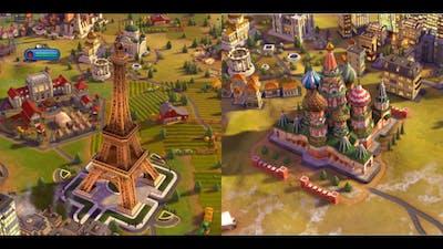 Wonders Built In Sid Meier's Civliziation VI