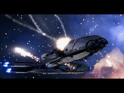 Battlestar Galactica: Deadlock - First campaign final mission - Battle cinematic