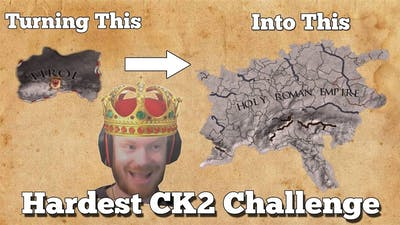 HARDEST CK2 CHALLENGE EVER! - Crusader Kings 2 with TommyKay