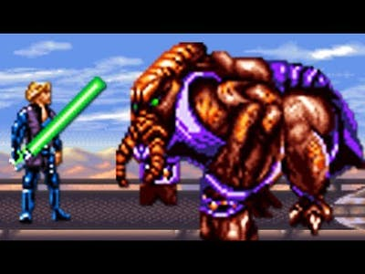 Super Star Wars: Return of the Jedi (SNES) All Bosses (No Damage)